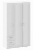 Space Garderobeskab - Hvid højglans m/skuffer