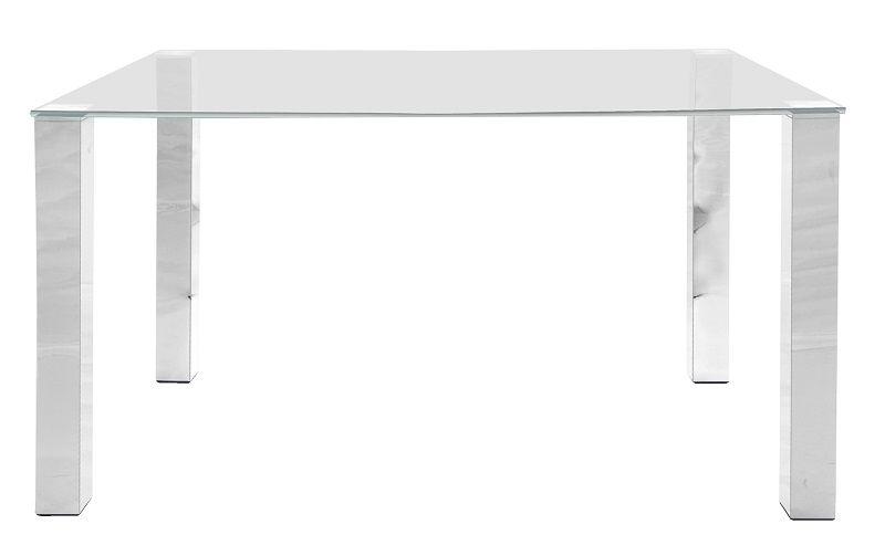 May Spisebord 140x90 - Bordplade i hærdet glas - Spisebord med glasplade