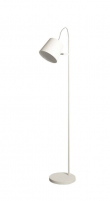 Buckle Head Gulvlampe - Hvid gulvlampe i metal