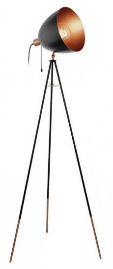 Chester Gulvlampe - Sort - Sort gulvlampe i metal