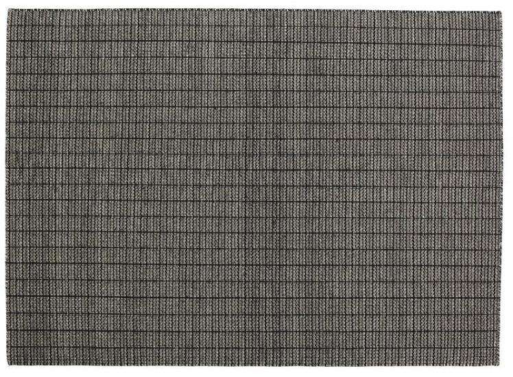Fabula Tanne tæppe - Sort/Hvid - Håndvævet Kelim 170x240 cm