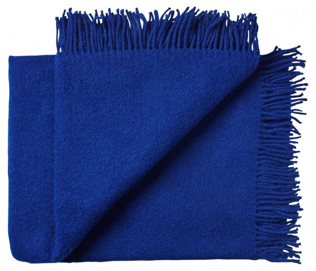 Athen Plaid, Uld, Cobolt Blue, 200x130 - Silkeborg Uldspinderi
