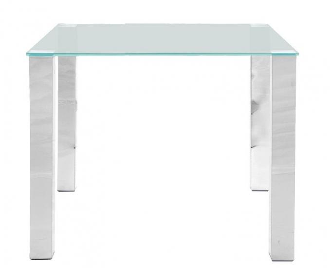 May Spisebord 90x90 - Bordplade i hærdet glas - Spisebord med glasplade