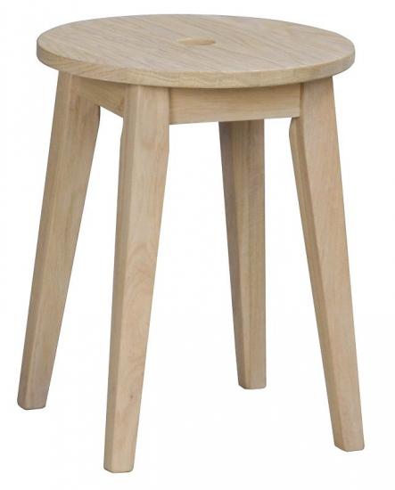 Methro Skammel - hvidvasket matlakeret eg - H:44 - Fin massiv træskammel