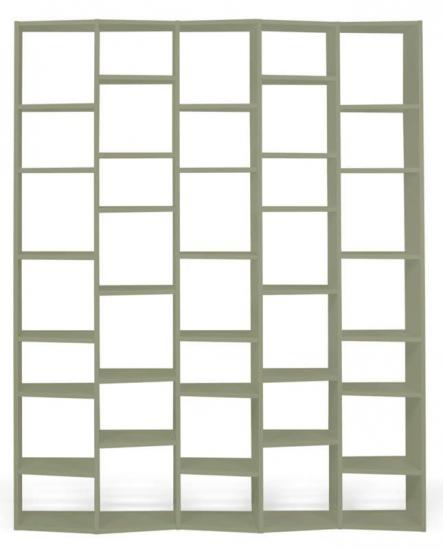 Temahome - Valsa Reol - Grå 34 rum B:182 - Stor grå bogreol