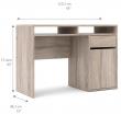 Function Plus Skrivebord m. 1 låge - Trøffel