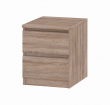 Naia Sengebord - Brun - Sengebord i trøffelfarve med skuffer