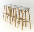 Sika-Design Simone Barstol - Hvid