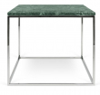 Gleam Sidebord - Grøn - 50 cm - Grønt marmorsidebord med kromstel
