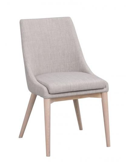Bea Spisebordsstol, Lys grå stof - eg