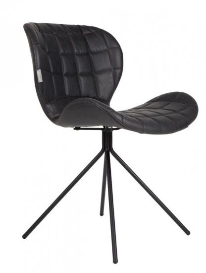 Zuiver OMG Spisebordsstol - Sort PU læder