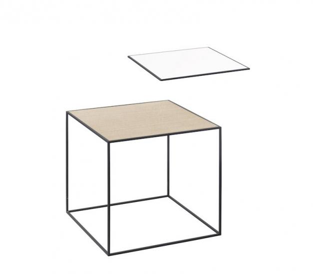 by Lassen - Twin 35 Sidebord - Hvid/Eg