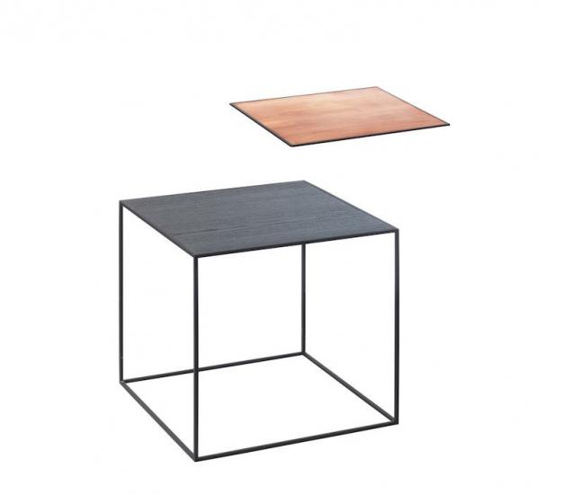 by Lassen - Twin 35 Sidebord - Sort Ask/Kobber