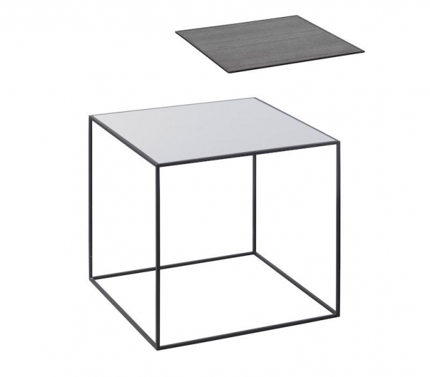 by Lassen - Twin 42 Sofabord - Sort/Cool grey - Sofabord i sort og grå