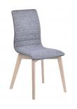 Trend Spisebordsstol - Lysegrå - Spisebordsstol med gråt stofsæde