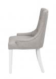 Vicky Spisebordsstol, lys grå, hvid