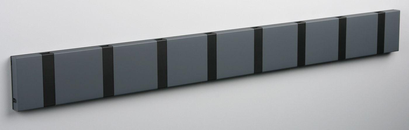 KNAX Knagerække Antracit - 8 sorte knager