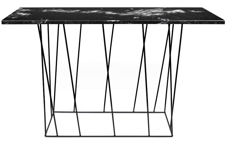 Temahome - Helix Konsolbord - Sort m/sort stel