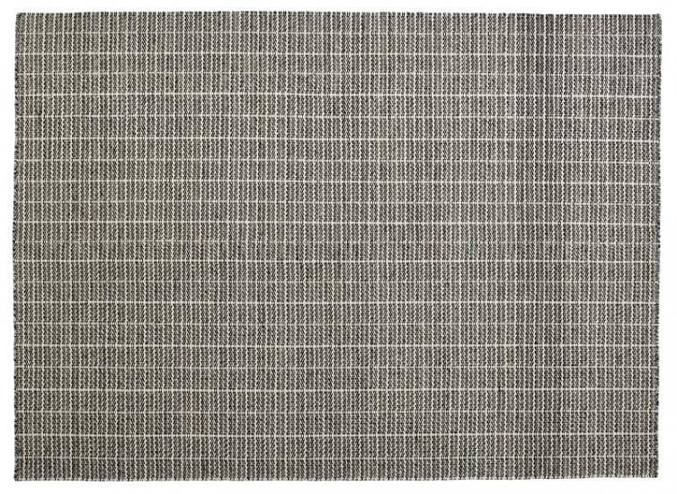 Fabula Living - Tanne Hvid/Sort Kelim - 170x240 - Håndvævet Kelim 170x240 cm