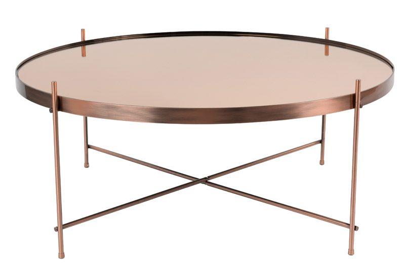 Zuiver Cupid Sofabord - Kobber - Ø82,5 - Rundt kobberbord - stort