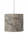 Ebb&Flow - Lampeskærm, fern leaves wild, grå glitter, Ø35