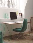 Temahome - Flow Skrivebord - Hvid m/grønt stel
