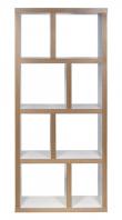 Temahome - Berlin Reol - Hvid 70x159 - Høj reol i natur/hvid