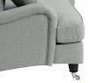 Lancaster 3-pers. sofa - Aqua m. hjul