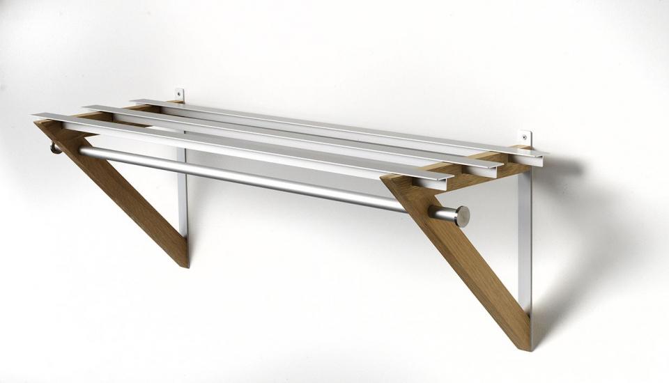 Hoigaard - HH-6 Milano Hattehylde - sæbebehandlet eg - 68 cm