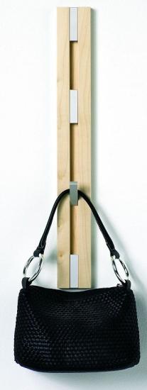 KNAX Knageraekke - Lodret - 4 knager - Eg - Knagerække i eg med 4 knager