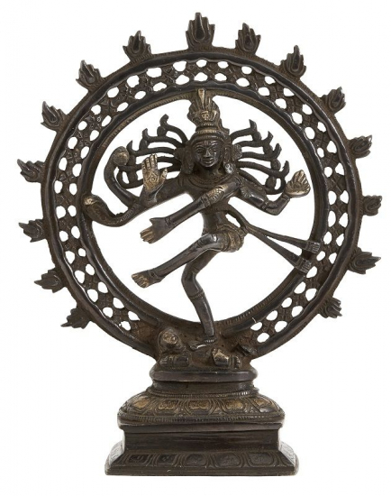 Nordal - Skulptur Black Shiva - Mørk messing