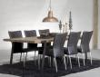 Rustic Spisebord - 100x240 - Eg og sort metal