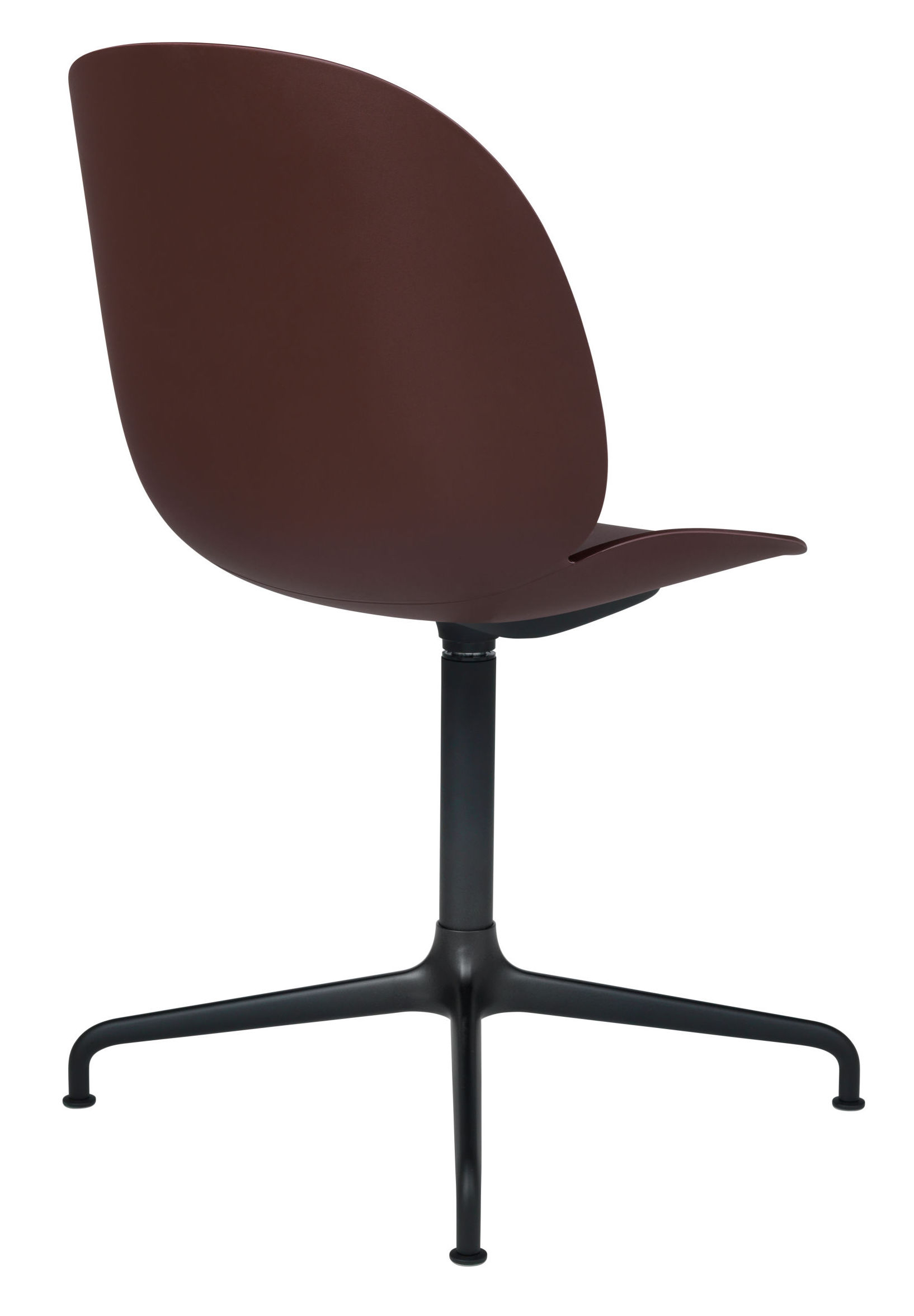 GUBI - Beetle Spisebordsstol Swivel - Pink/Sort - Pink spisebordsstol med drejeben
