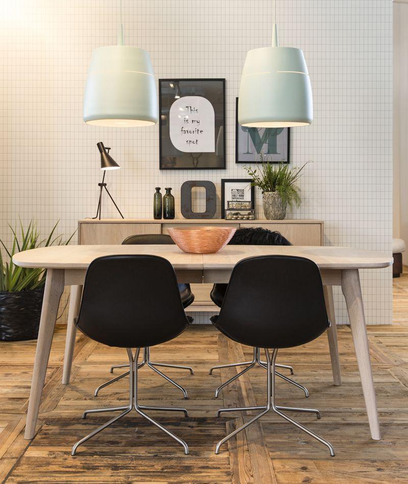 Aliva Spisebord - Hvidpigment ege finér - Hvidolieret spisebord