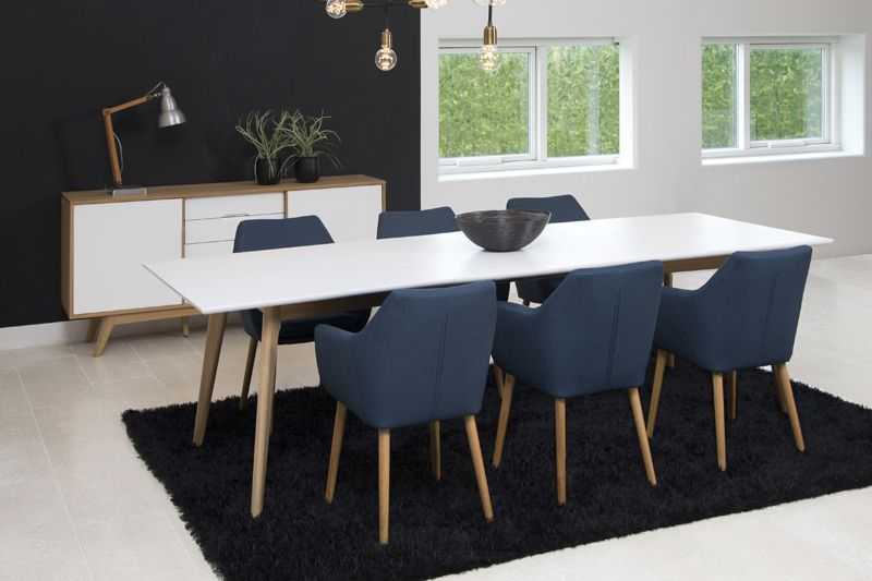 Amada spisebordsstol bl gratis fragt for Table a manger avec rallonge