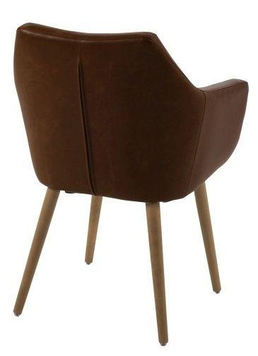 Amada Spisebordsstol - Brun PU læder - Spisebordsstol i brun kunstlæder