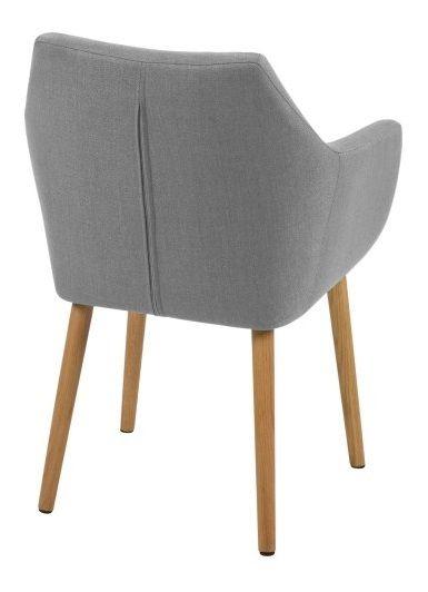 Amada Spisebordsstol - Grå - Spisebordsstol i lysegrå