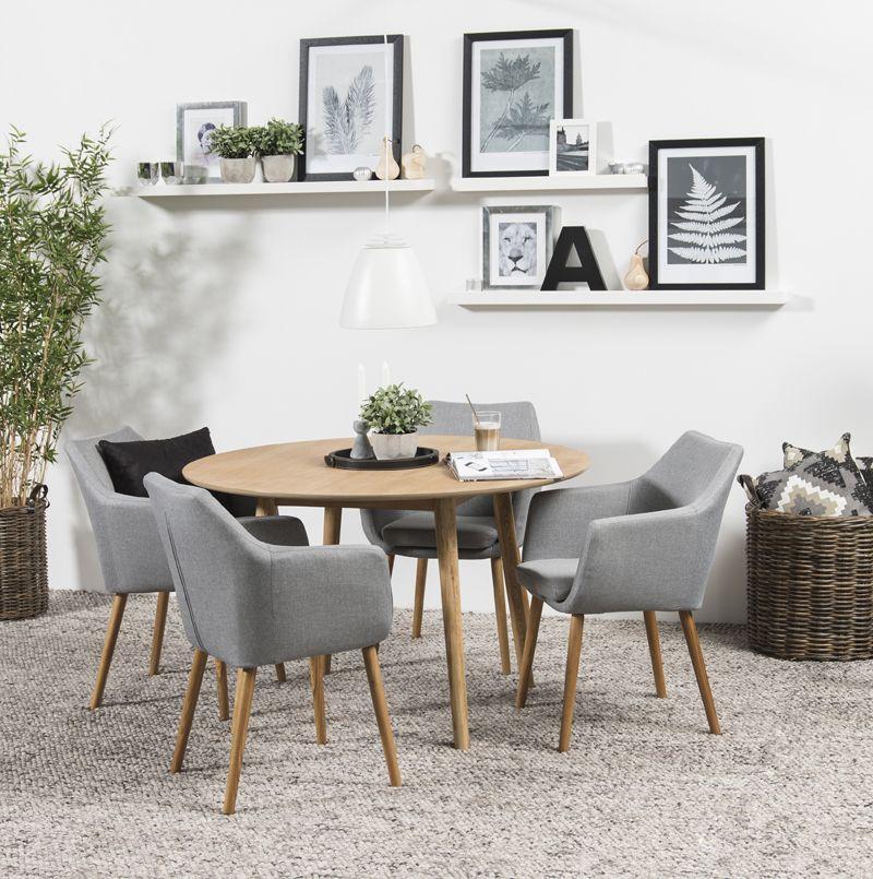 Amada Spisebordsstol - Lys Grå - Spisebordsstol i lysegrå