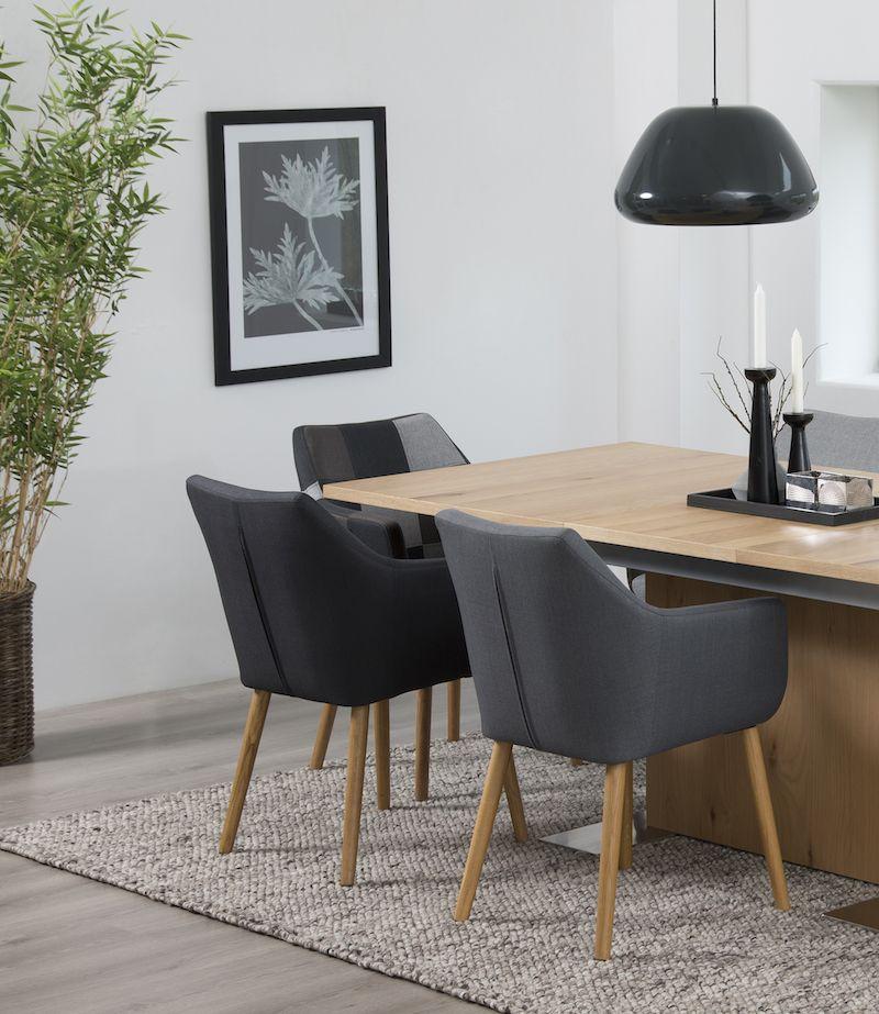 Amada Spisebordsstol - Mørkegrå - Mørkegrå spisebordsstol