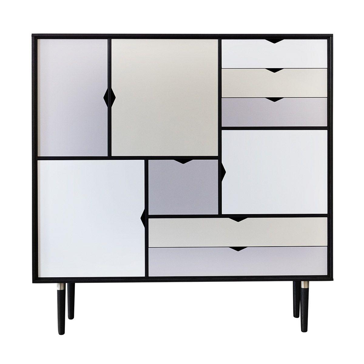 Andersen Furniture - S3 Højskænk - Sort lak - Farve - Gratis fragt