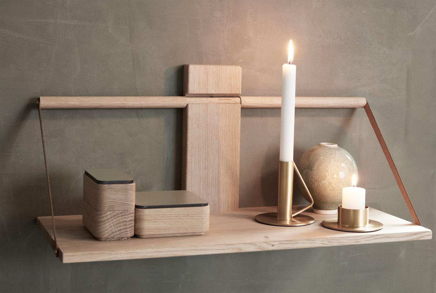 Andersen Shelf wood wall - Large, Eg