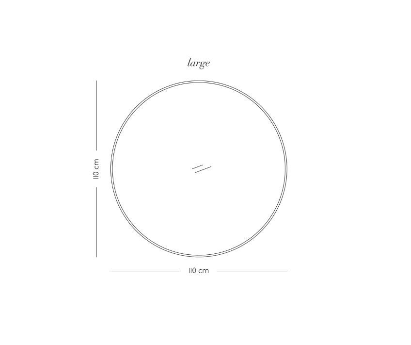 AYTM Circum Spejl - Valnød/Klar glas, Ø110