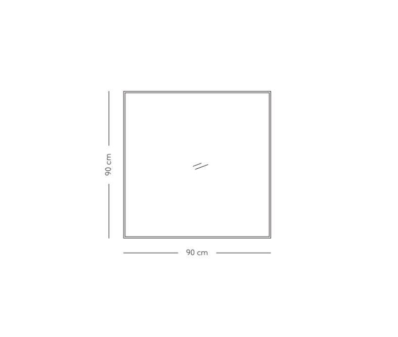AYTM Quadro Spejl 90x90 - Valnød/Klar glas
