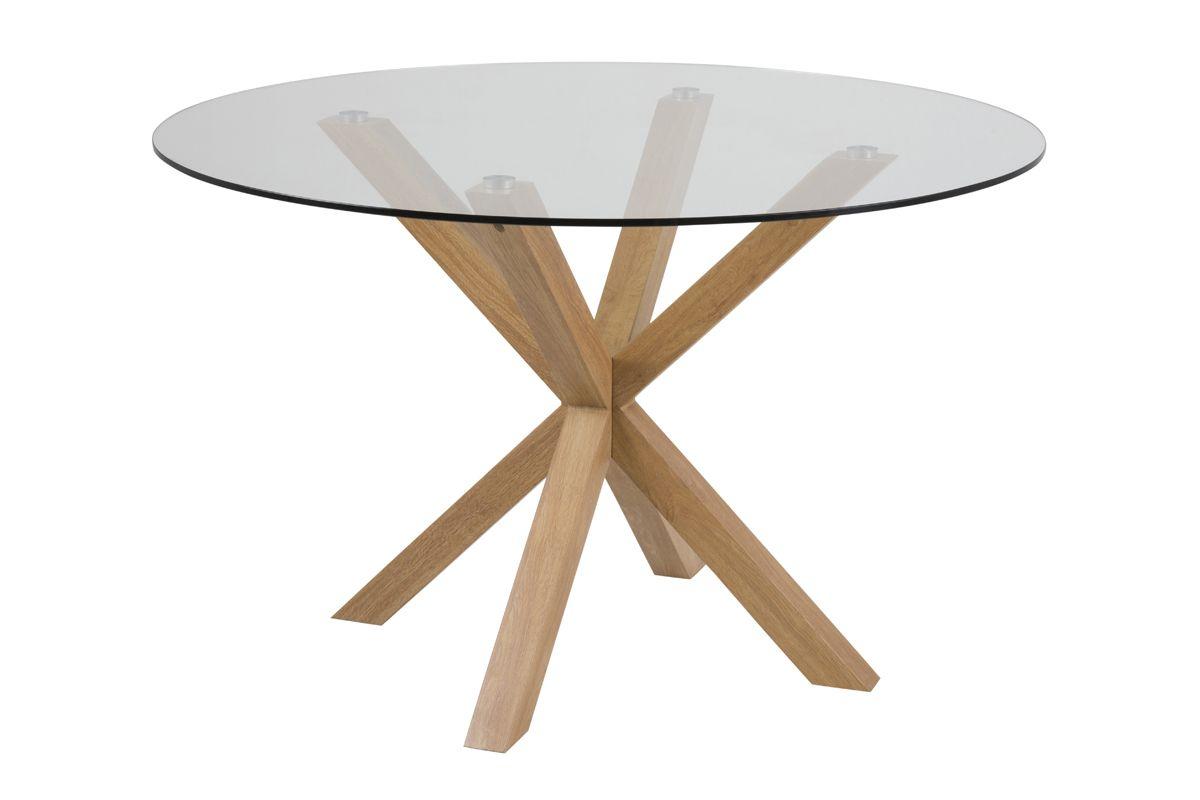 Azure Spisebord Ø119xH75,5 - Glas bordplade