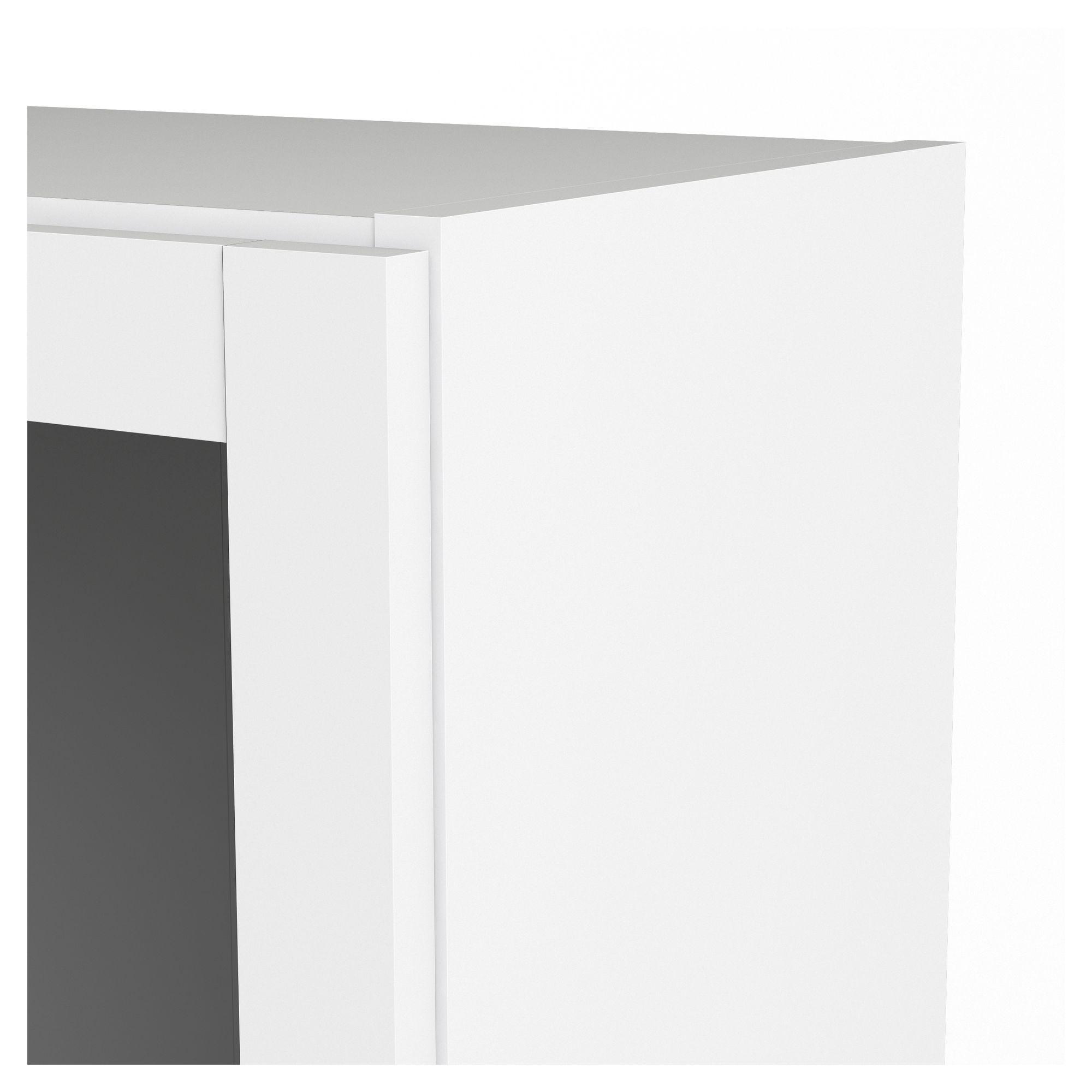 Basic Ekstra låge - Hvid m/glaslåge - Hvid Basic glaslåge