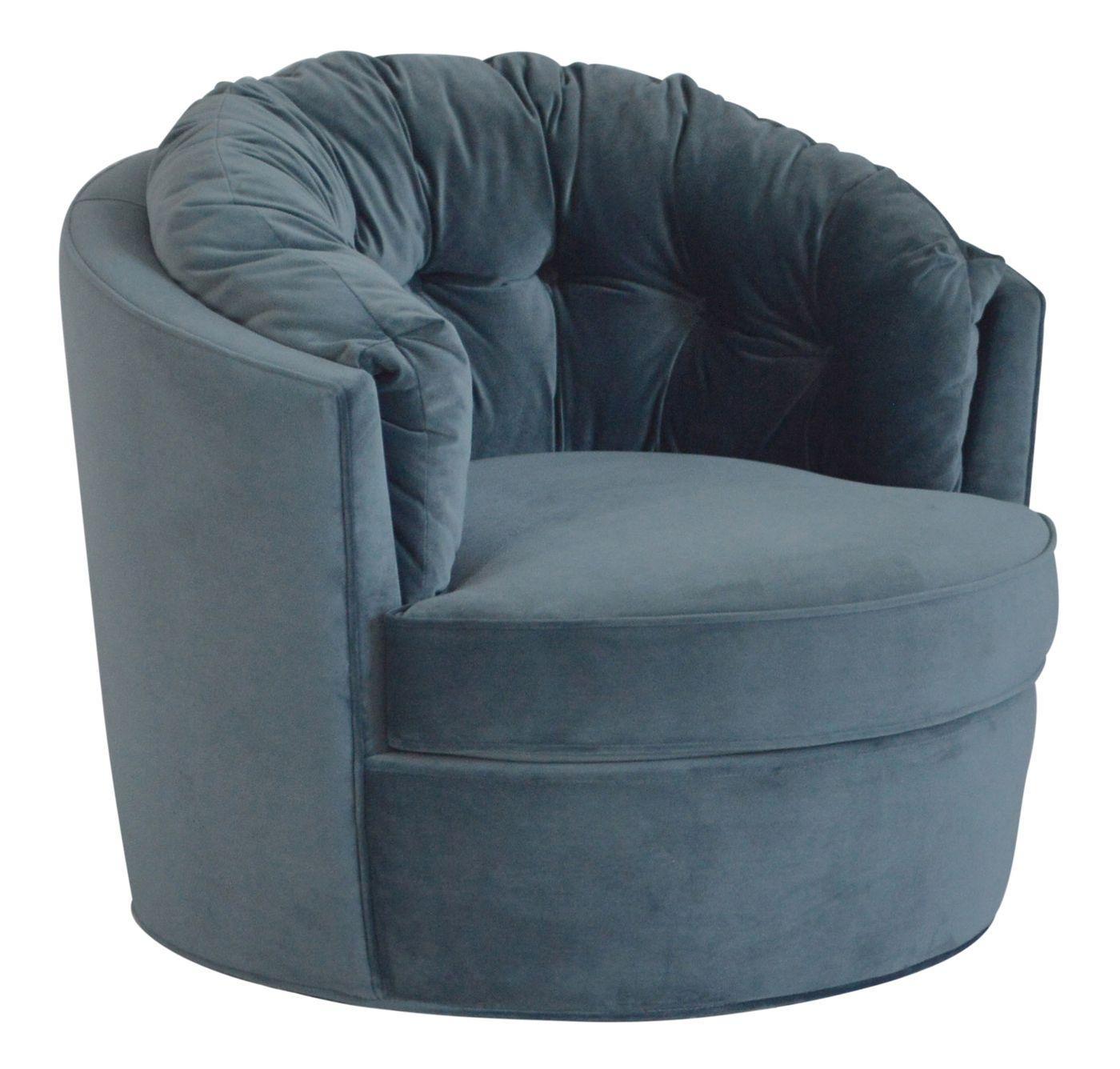 Carousel Loungestol m/drejefod - Stålblå