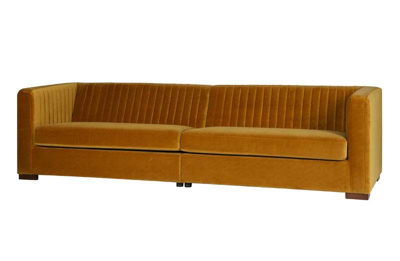 Nouveau Sofa XL i Velour - Sennepsgul