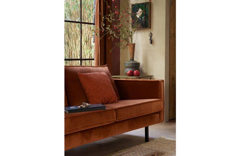 Rodeo 2,5 pers. sofa velour - Rust