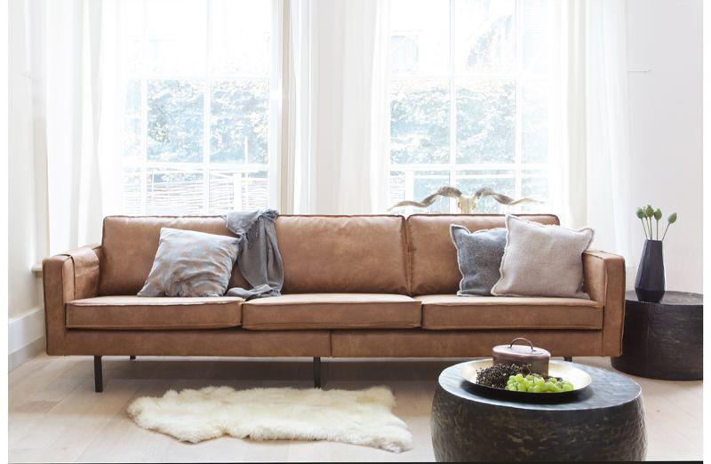 Rodeo 3-pers sofa i øko-læder - Cognac