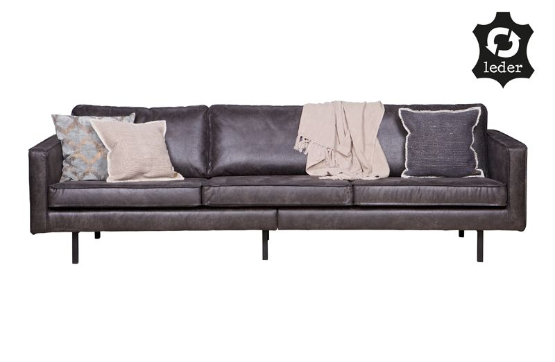 Rodeo 3-pers sofa i øko-læder - Sort